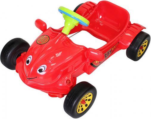 Машина педальная RT Herbi с музыкальным рулем красная ОР09-901