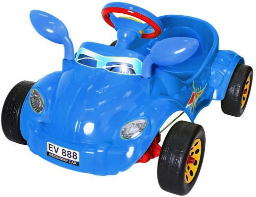 Машина педальная RT Молния с музыкальным рулем синяя ОР09-903