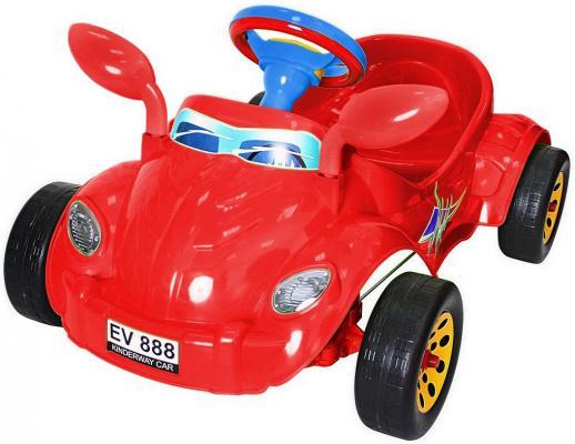 Машина педальная RT Молния с музыкальным рулем красная ОР09-903