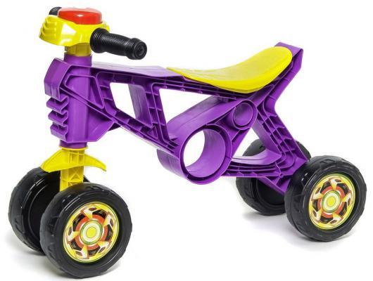 Каталка-беговел трехколёсный RT Самоделкин с клаксоном фиолетовая ОР188