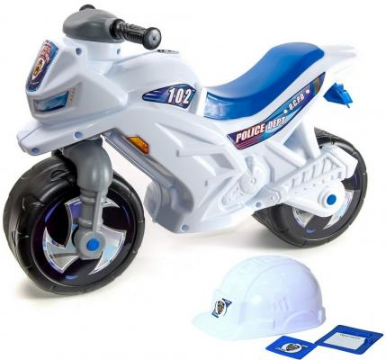 Каталка-мотоцикл R-Toys Racer RZ 1 Полиция от 18 месяцев пластик бело-синий ОР501в2 каталка мотоцикл rt скутер аквамарин ор502