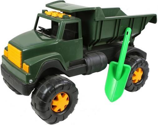 Самосвал RT Интер BIG Военный (лопата) хаки 58 см автомобиль rt ор184 интер big цветной лопата и пасочка синий с зеленым