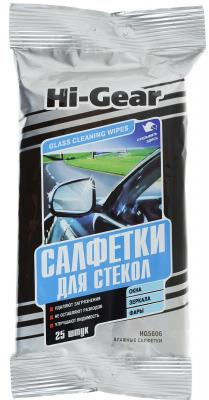 Салфетки для стекол Hi Gear HG 5606N салфетки hi gear hg 5583 освежающие