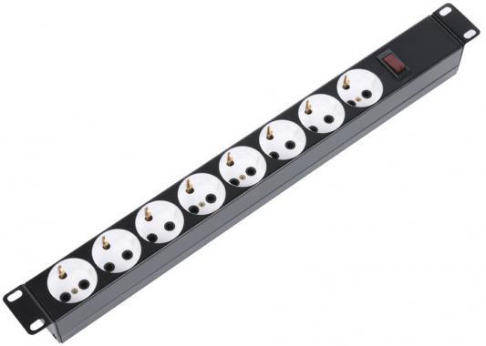 Блок розеток ЦМО БР 16-008-9005 черный 8 розеток