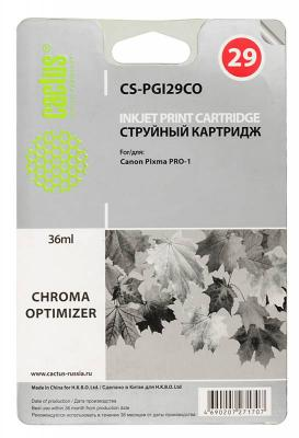 Картридж Cactus CS-PGI29CO для Canon Pixma  Pro-1 оптимизатор картридж совместимый для струйных принтеров cactus cs pgi29co оптимизатор для canon pixma pro 1 36мл cs pgi29co