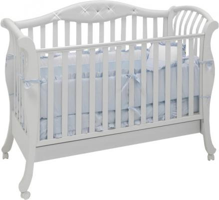 Кроватка Bambolina Divina Glamour Cristallo (белый)