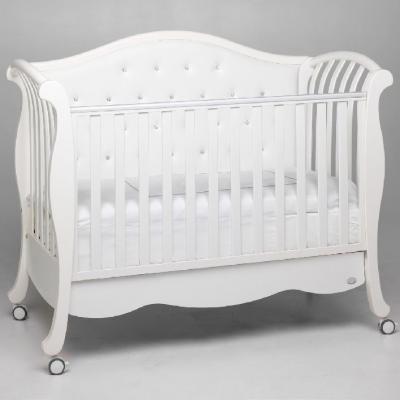Кроватка Bambolina Divina Lux Cristallo (белый)