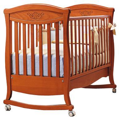 Кроватка-качалка Bambolina Principessa Classic (вишня)