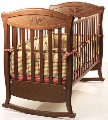 Кроватка-качалка Bambolina Principessa Classic (орех)