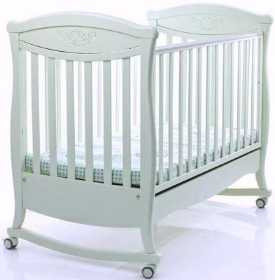 Кроватка-качалка Bambolina Principessa Classic (отбеленный)