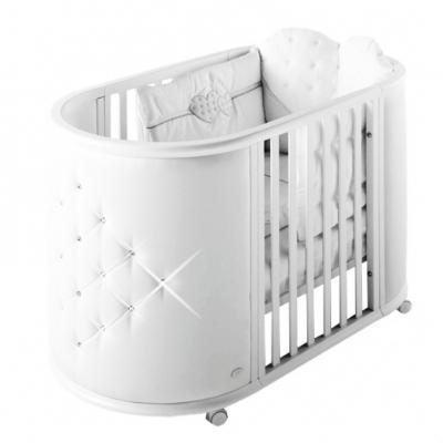 Кроватка-колыбель Bambolina Perla (белый) цены