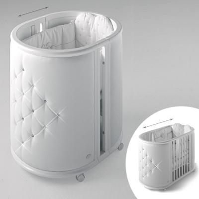 Кроватка-колыбель Bambolina Perla (белый)