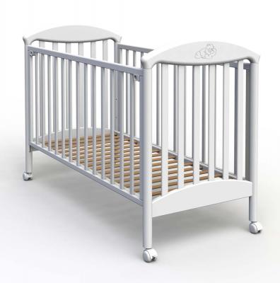 Купить Кроватка Fiorellino Pu (white), белый, бук, Кроватки без укачивания