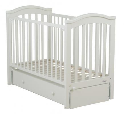 Купить Кровать с маятником Fiorellino Slovenia (white), белый, бук, Кроватки с маятником