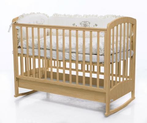 Купить Кроватка-качалка Fiorellino Zolly (natur), натуральный, бук, Кроватки-качалки
