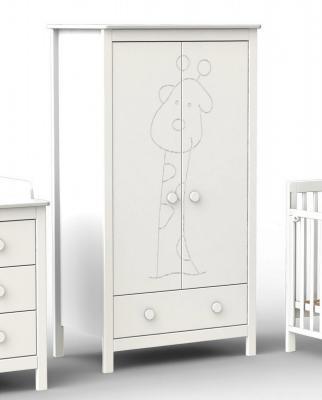 Шкаф двухстворчатый Fiorellino Giraffe (white)