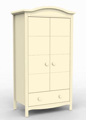 Купить Шкаф двухстворчатый Fiorellino Slovenia (ivory), слоновая кость, массив бука / МДФ / ДСП, Двухстворчатые
