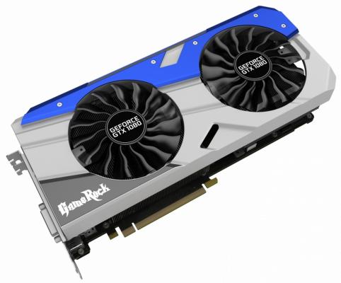 Видеокарта 8192Mb Palit GeForce GTX1080 GameRock Premium Edition PCI-E 256bit GDDR5X DVI HDMI DP Retail