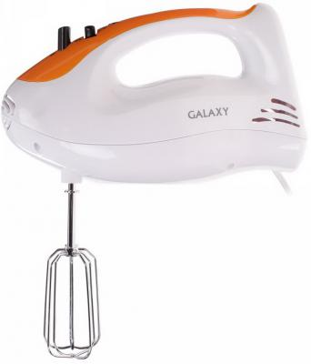 Миксер ручной GALAXY GL 2205 300 Вт белый оранжевый миксер galaxy gl 2203