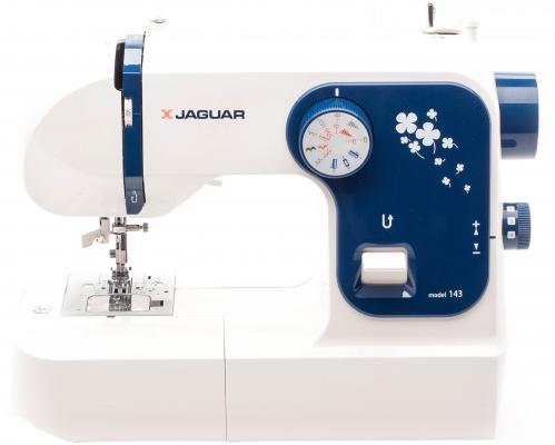 Швейная машина Jaguar 143 белый синий цена