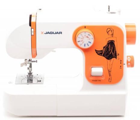 Швейная машина Jaguar 145 белый оранжевый