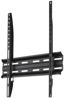 Кронштейн HAMA  H-118104  черный для ЖК ТВ до 32-65 настенный фиксированный VESA 400x400 до 35кг кронштейн hama h 118114 черный для жк настенный наклон