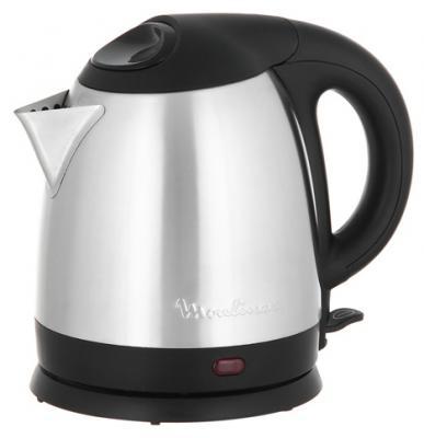 Чайник Moulinex BY430DRU 1500 Вт серебристый чёрный 1.5 л металл мясорубка moulinex me108832 300 вт серебристый чёрный