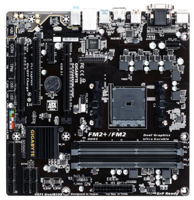 Мат. плата для ПК GigaByte GA-F2A88XM-D3HP Socket FM2+ AMD A88X 4xDDR3 2xPCI-E 16x 1xPCI 1xPCI-E 1x 8xSATAIII mATX Retail