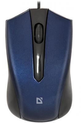 Мышь проводная DEFENDER Accura MM-950 синий USB 52952