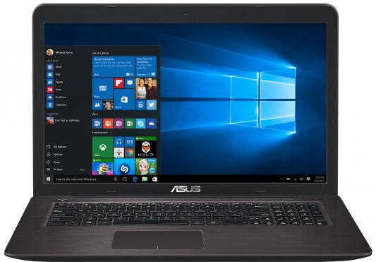 Ноутбук ASUS K756UJ 17.3 1600x900 Intel Core i3-6100U 90NB0A21-M00890 ноутбук asus k756uj 90nb0a21 m00890