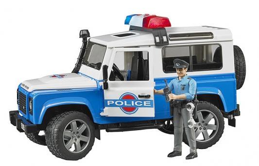 Джип Bruder Land Rover Defender Station Wagon Полиция с фигуркой 02-595