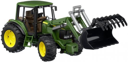 Трактор Bruder John Deere 6920 с погрузчиком зеленый 38.5 см 02-052