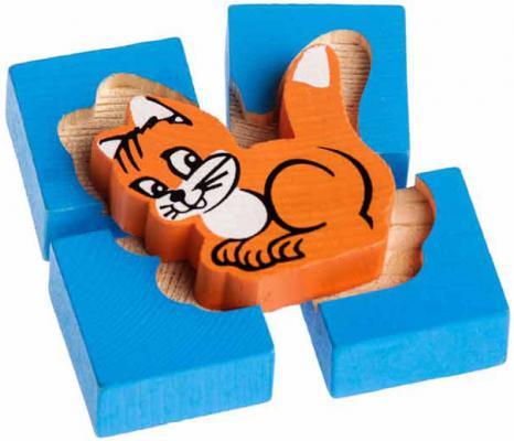 Конструктор-вкладыш Томик Собирайка: Кошка 5 элементов 1-02 конструктор томик веселый городок 56 элементов 7678 1