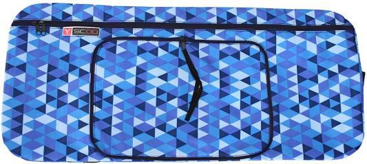 Чехол-портмоне Y-SCOO 125 Ромбы голубой складной
