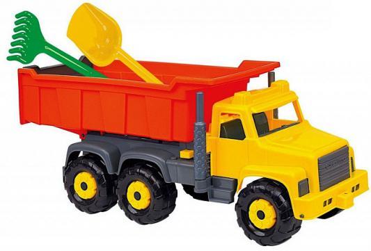 Самосвал Cavallino Супергигант с лопатой, граблями 5557 разноцветный автомобиль самосвал cavallino супергигант 5113