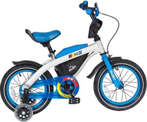 "Велосипед RT беговел 14"" RUSH M5 2в1 RM5 14"" голубой"