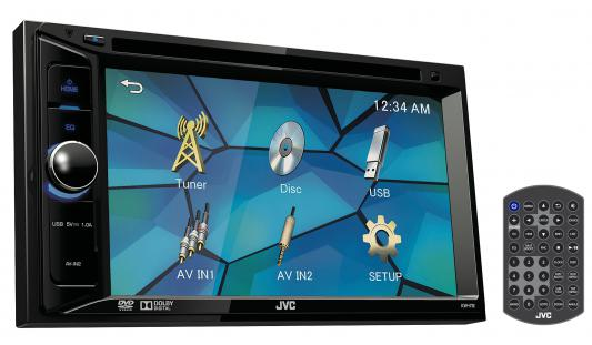 Автомагнитола JVC KW-V12 USB MP3 CD DVD FM 2DIN 4x50Вт gps navigation hd 2din 6 2 inch car stereo dvd player bluetooth ipod mp3 tv camera