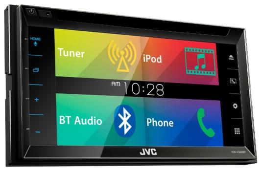 Автомагнитола JVC KW-V320BT USB MP3 CD DVD FM 2DIN 4x50Вт fm модулятор guarding the dragon 2127 mp3 cd dvd