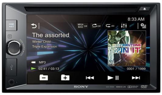Автомагнитола SONY AV-W600 CD DVD 2DIN 4x55Вт gps navigation hd 2din 6 2 inch car stereo dvd player bluetooth ipod mp3 tv camera