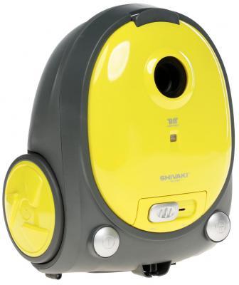 Пылесос Shivaki SVC-1438Y с мешком сухая уборка 1400Вт желтый пылесос shivaki svc 1747r без мешка сухая уборка 1800вт красно черный