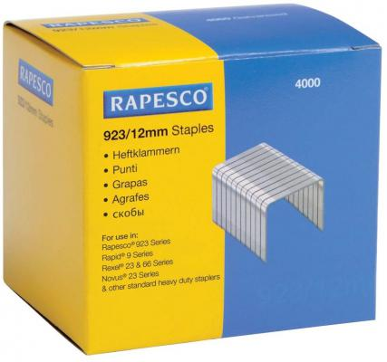 Скобы Rapesco 23/12 4x1000шт S92312Z3