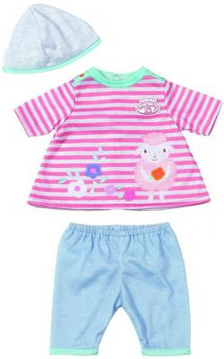Одежда для кукол Zapf Creation My first Baby Annabel 36 см розово-серый 794371 my first encyclopedia