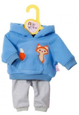 Одежда для кукол Zapf Creation высотой 38-46 см, голубая, веш.