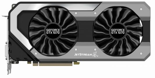 Видеокарта Palit GeForce GTX 1070 GeForce GTX1070 JetStream PCI-E 8192Mb 256 Bit Retail (NE51070015P2-1041J) видеокарта palit geforce gtx 1070 super jetstream 1632mhz pci e 3 0 8192mb 8000mhz 256 bit hdmi ne51070s15p2 1041j