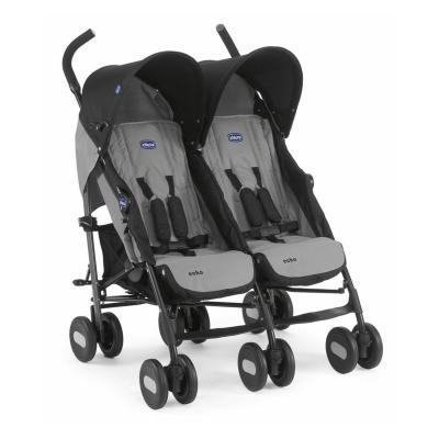 Коляска-трость для для двоих детей Chicco Echo Twin Stroller (coal) echo twin