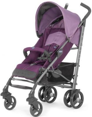 Коляска-трость с бампером Chicco Lite Way Top Stroller (purple) chicco chicco коляска трость lite way top stroller цвет sand с бампером