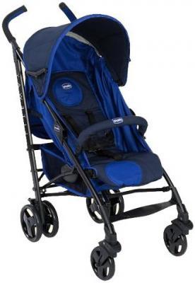 Коляска-трость с бампером Chicco Lite Way Top Stroller (blue) коляска трость с бампером chicco lite way top stroller s d denim