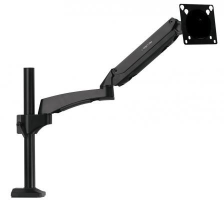 Настольное наклонно-поворотное крепление Kromax OFFICE-11 для LCD/LED монитора 15-32  VESA 75/100 max 10кг черный kromax office 3 10 26 до 2x12кг vesa до 100x100 серый для двух мониторов