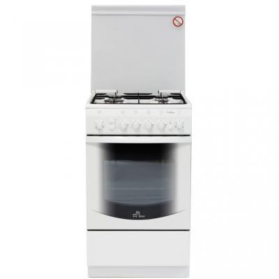 Газовая плита De Luxe 5040.41г чр белый газовая плита de luxe 506040 04г чр газовая духовка белый