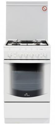 Газовая плита De Luxe 5040.31г ЧР белый газовая плита de luxe 506040 04г чр газовая духовка белый